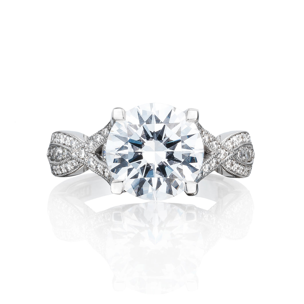 Tacori Ribbon Round Diamond Engagement Ring (0.62 CTW)