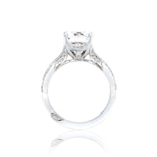 Load image into Gallery viewer, Tacori Ribbon Round Diamond Engagement Ring (0.62 CTW)