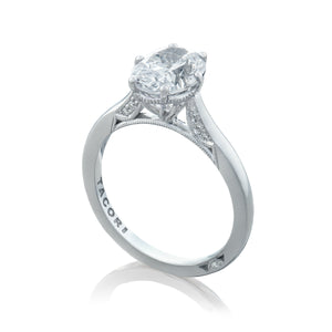 Tacori Simply Tacori Oval Diamond Engagement Ring (0.07 CTW)