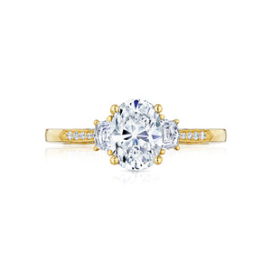 Tacori Simply Tacori Oval Diamond Engagement Ring (0.34 CTW)