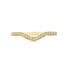 Load image into Gallery viewer, Tacori Sculpted Crescent Diamond Wedding Band (0.17 CTW)