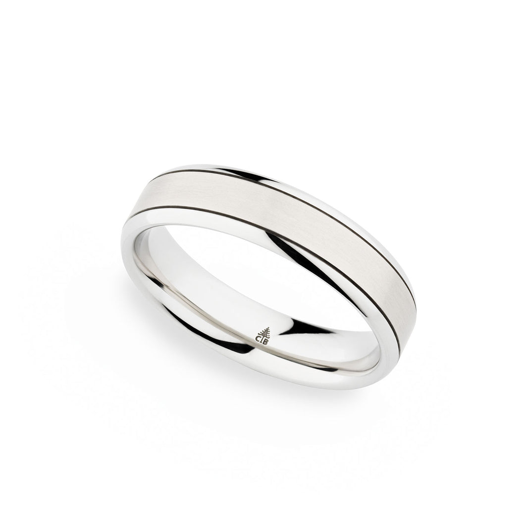 Christian Bauer White Gold Wedding Band 273881