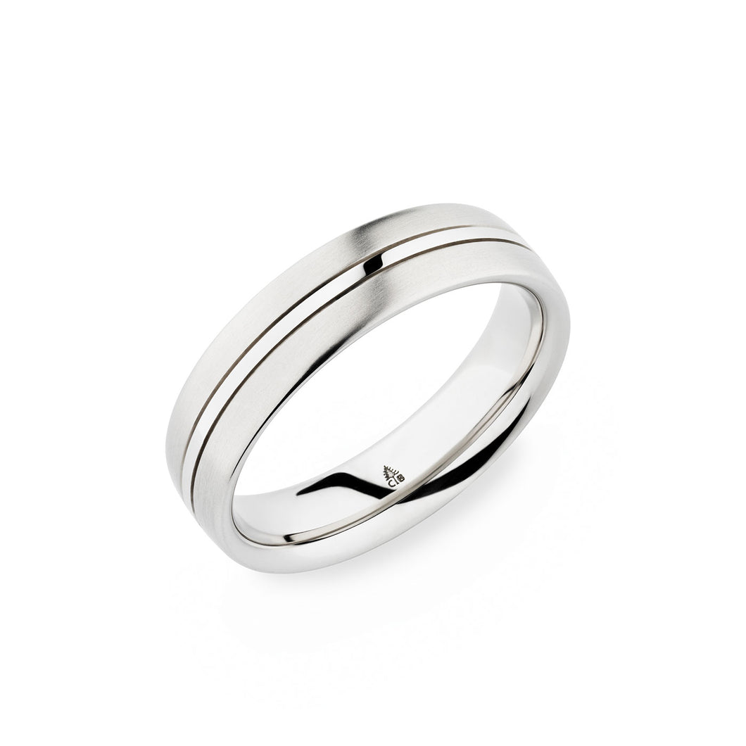 Christian Bauer White Gold Wedding Band 274173