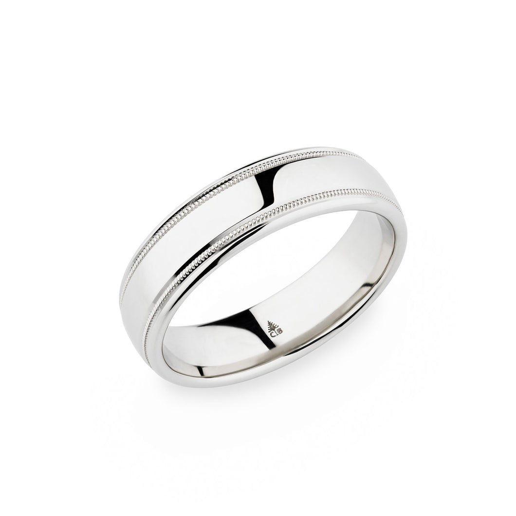 Christian Bauer White Gold Wedding Band 274434