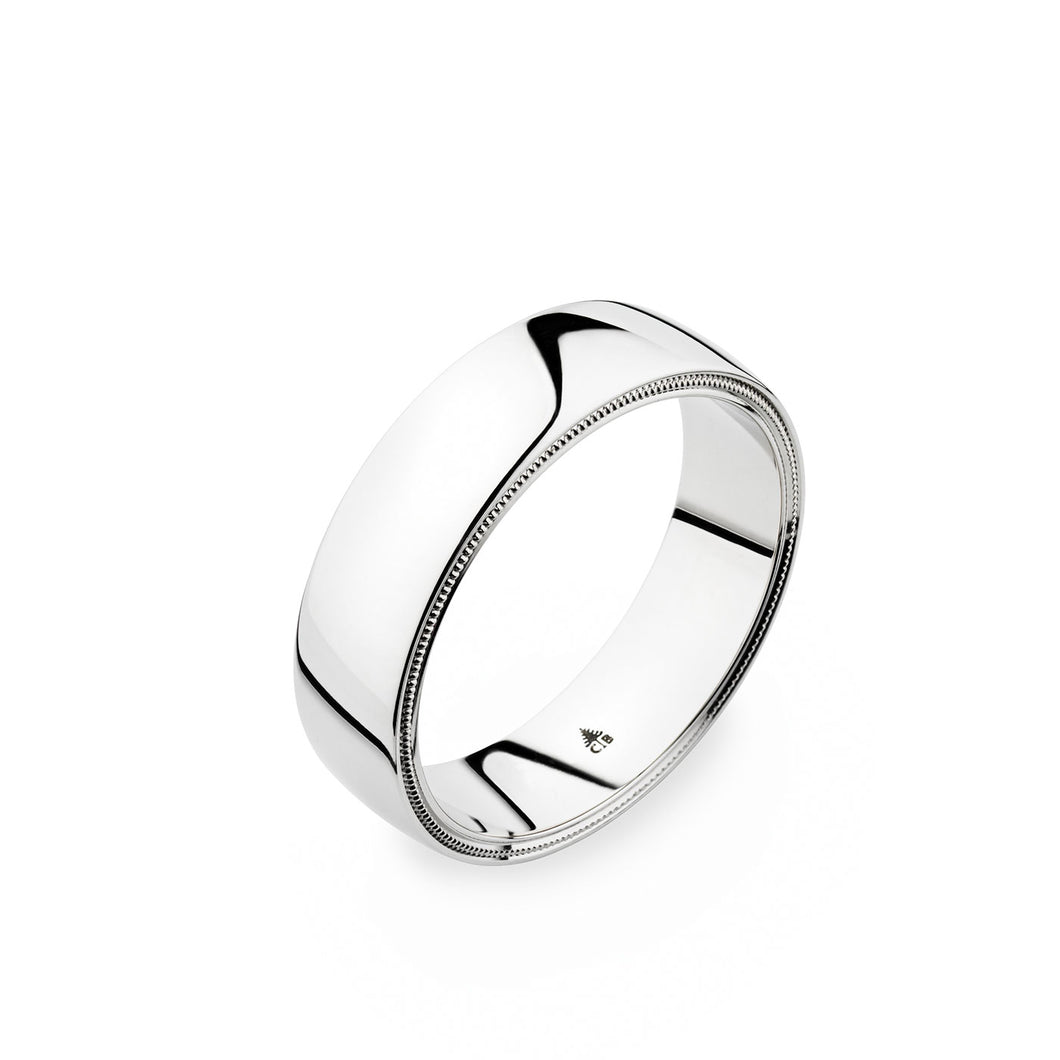 Christian Bauer White Gold Wedding Band 274442