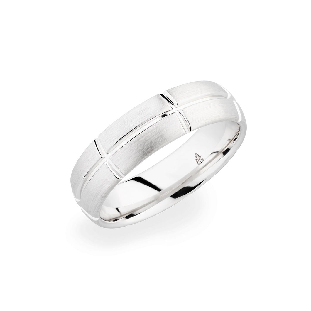 Christian Bauer White Gold Wedding Band 274467