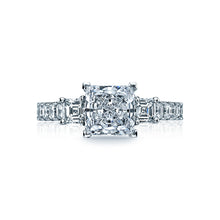 Load image into Gallery viewer, Tacori Clean Crescent Princess Diamond Engagement Ring (1.17 CTW)