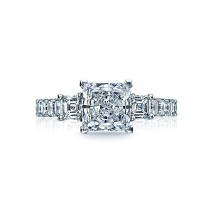 Tacori Clean Crescent Princess Diamond Engagement Ring (1.17 CTW)