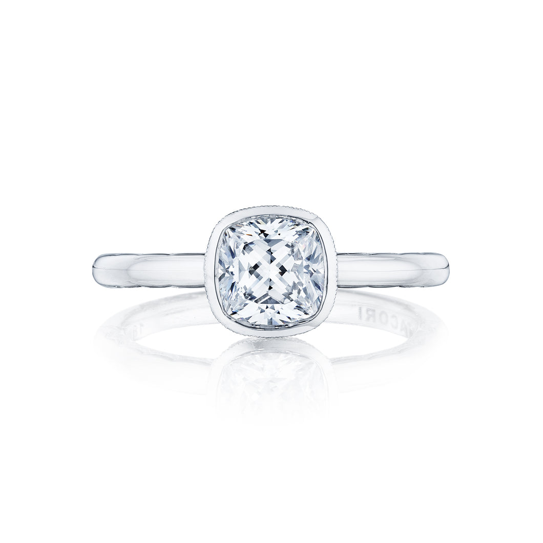 Tacori Starlit Cushion Diamond Engagement Ring (0.01 CTW)