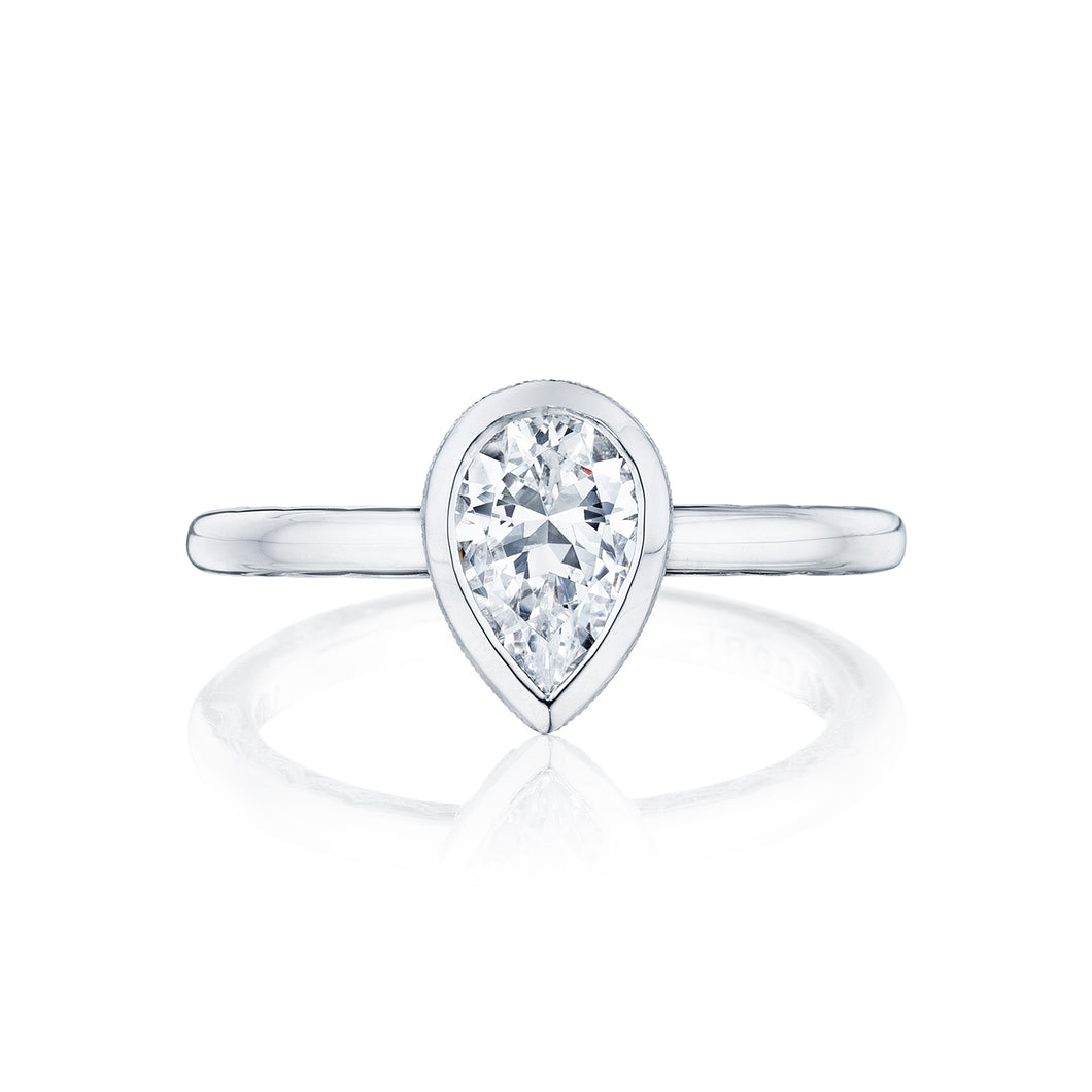 Tacori Starlit Pear Diamond Engagement Ring (0.01 CTW)