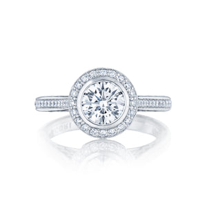 Tacori Starlit Round Diamond Engagement Ring (0.3 CTW)
