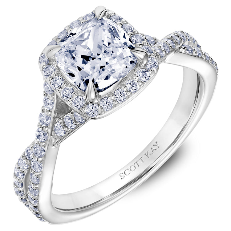 Scott Kay Namaste Engagement Ring (0.51  CTW)