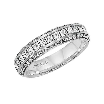 ArtCarved Candice Round Diamond Wedding Band