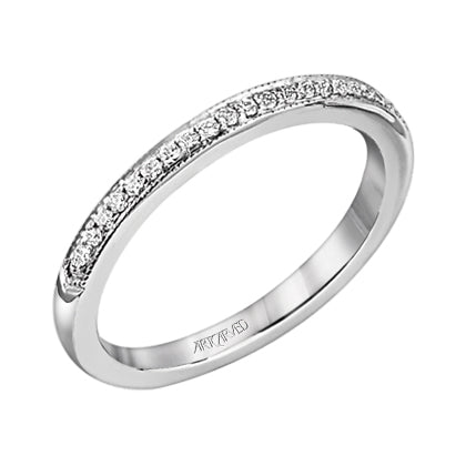 ArtCarved Calla Round Diamond Wedding Band