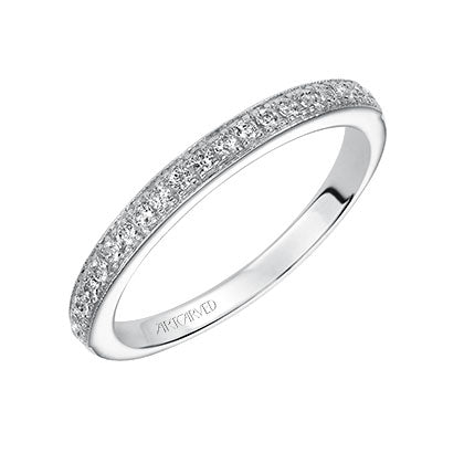 ArtCarved Amelia Round Diamond Wedding Band
