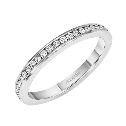ArtCarved Amanda Round Diamond Wedding Band