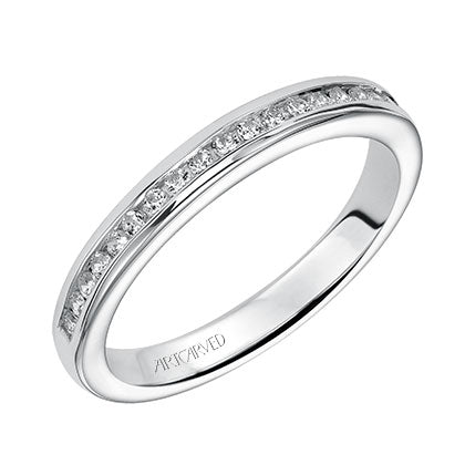 ArtCarved Claire Round Diamond Wedding Band