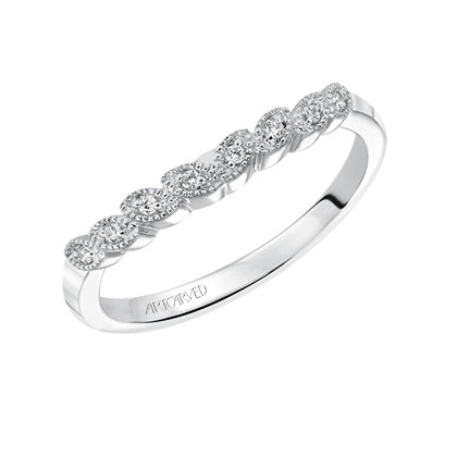 ArtCarved Adeline Round Diamond Wedding Band