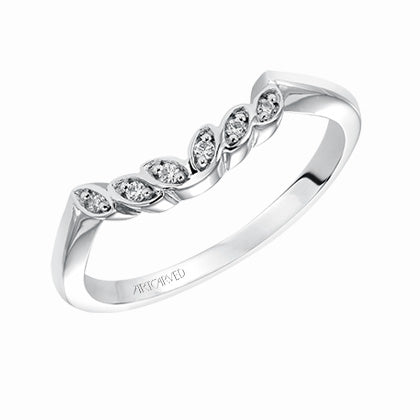 ArtCarved Corrine Round Diamond Wedding Band