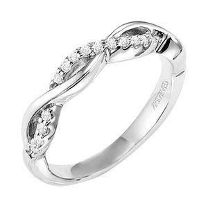 ArtCarved Bella Round Diamond Wedding Band
