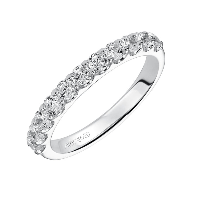 ArtCarved Carly Round Diamond Wedding Band