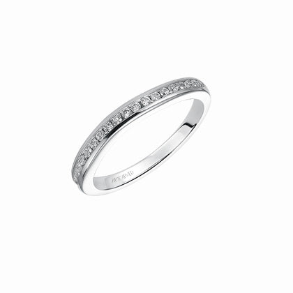 ArtCarved Carina Round Diamond Wedding Band