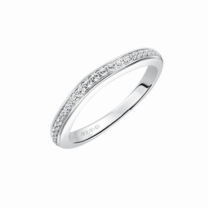 ArtCarved Brynn Round Diamond Wedding Band