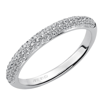 ArtCarved Adalyn Round Diamond Wedding Band