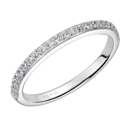 ArtCarved Adele Round Diamond Wedding Band