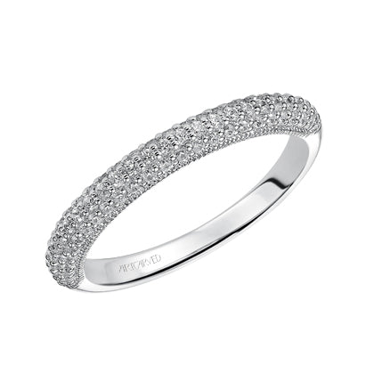 ArtCarved Cassie Round Diamond Wedding Band