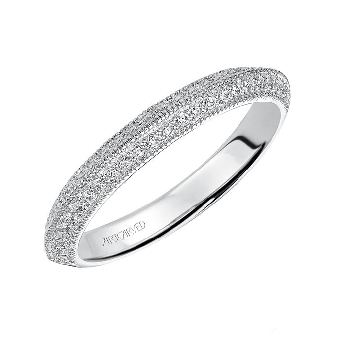 ArtCarved Brenda Round Diamond Wedding Band