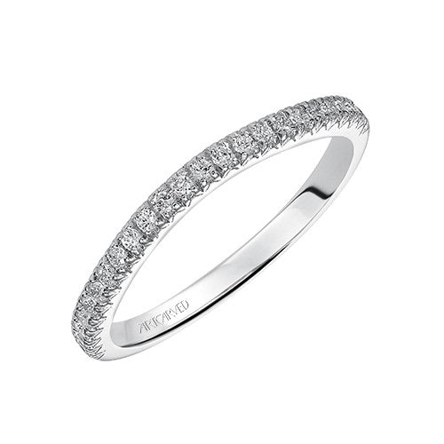 ArtCarved Colette Round Diamond Wedding Band