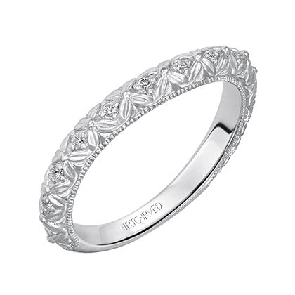ArtCarved Collette Round Diamond Wedding Band