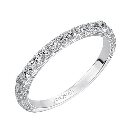 ArtCarved Charmaine Round Diamond Wedding Band