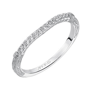 ArtCarved Angelina Round Diamond Wedding Band