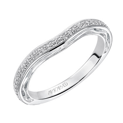 ArtCarved Ayanna Round Diamond Wedding Band