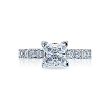 Load image into Gallery viewer, Tacori Clean Crescent Princess Diamond Engagement Ring (0.89 CTW)
