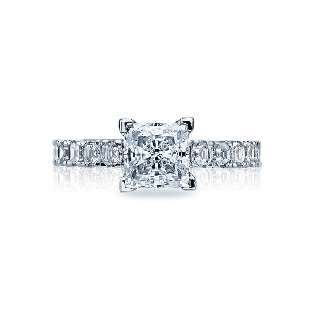 Tacori Clean Crescent Princess Diamond Engagement Ring (0.89 CTW)