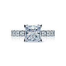 Load image into Gallery viewer, Tacori Clean Crescent Princess Diamond Engagement Ring (1.43 CTW)