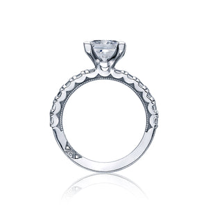 Tacori Clean Crescent Princess Diamond Engagement Ring (1.43 CTW)