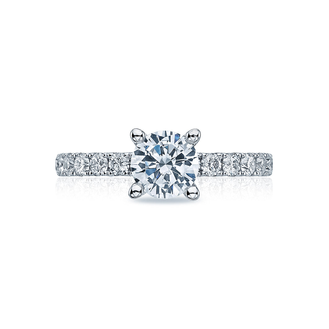 Tacori Clean Crescent Round Diamond Engagement Ring (0.6 CTW)