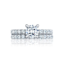 Load image into Gallery viewer, Tacori Clean Crescent Round Diamond Engagement Ring (0.6 CTW)