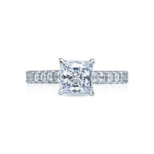 Load image into Gallery viewer, Tacori Clean Crescent Princess Diamond Engagement Ring (0.95 CTW)