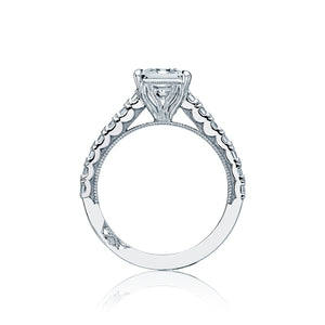 Tacori Clean Crescent Princess Diamond Engagement Ring (0.95 CTW)