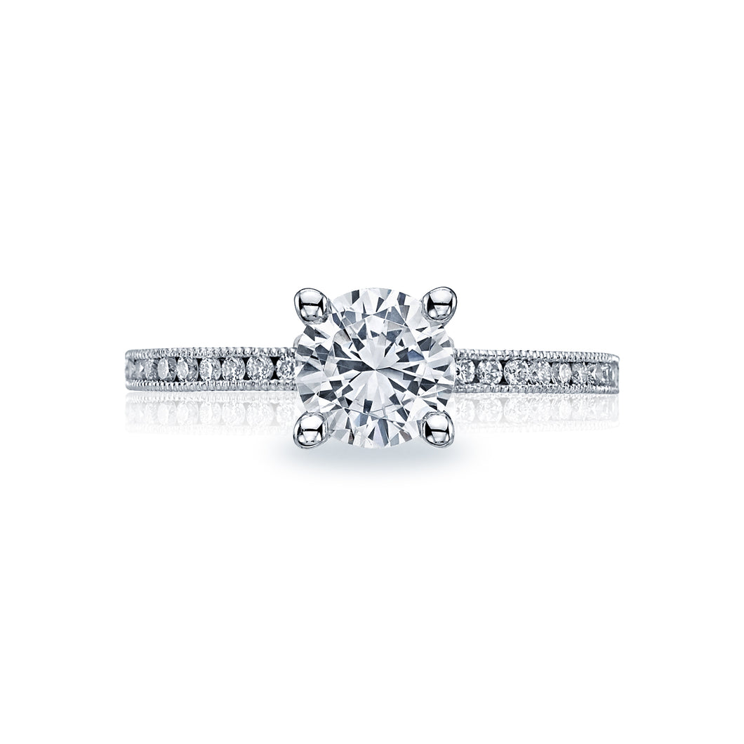 Tacori Sculpted Crescent Round Diamond Engagement Ring (0.19 CTW)