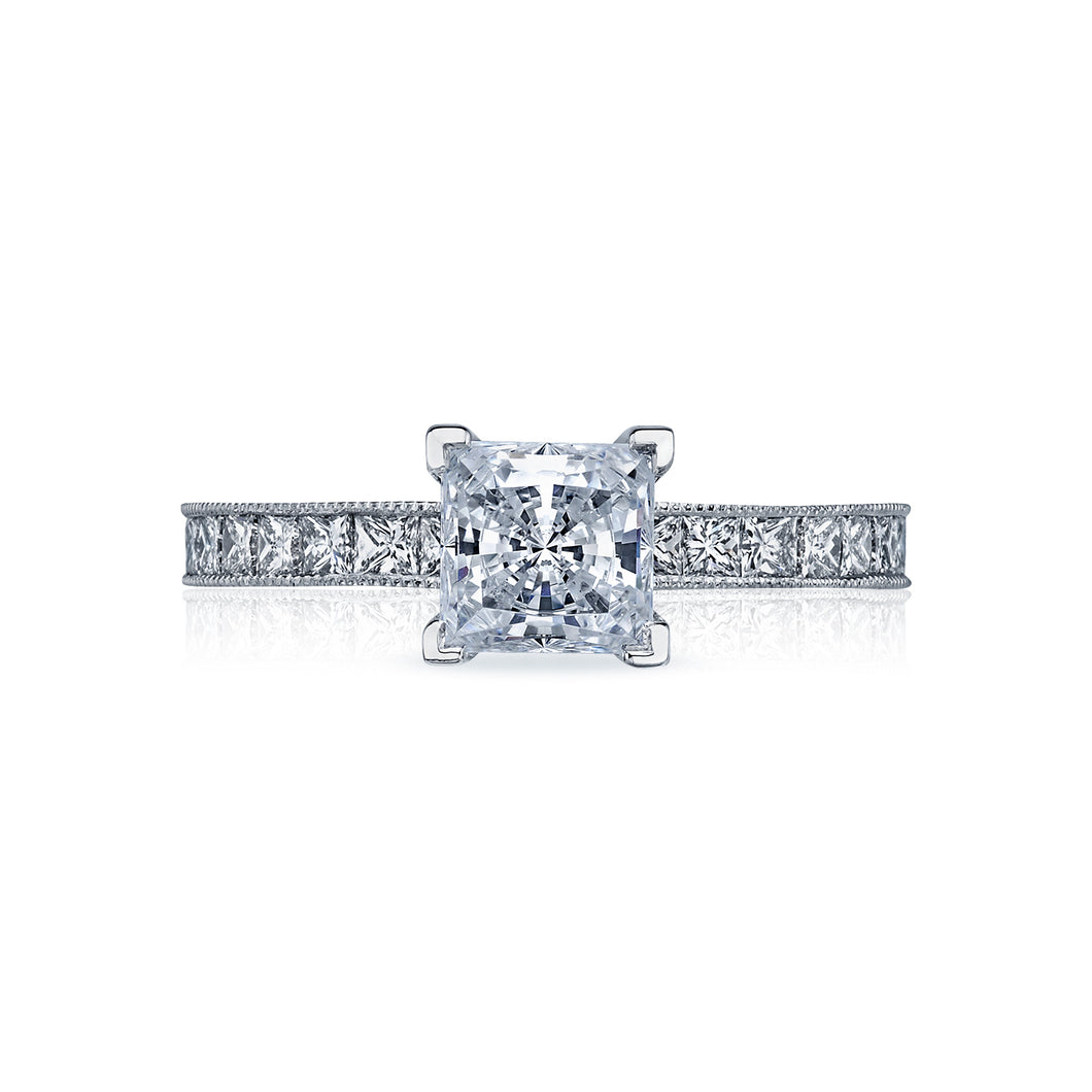 Tacori Sculpted Crescent Princess Diamond Engagement Ring (0.7 CTW)