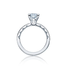 Load image into Gallery viewer, Tacori Sculpted Crescent Princess Diamond Engagement Ring (0.7 CTW)