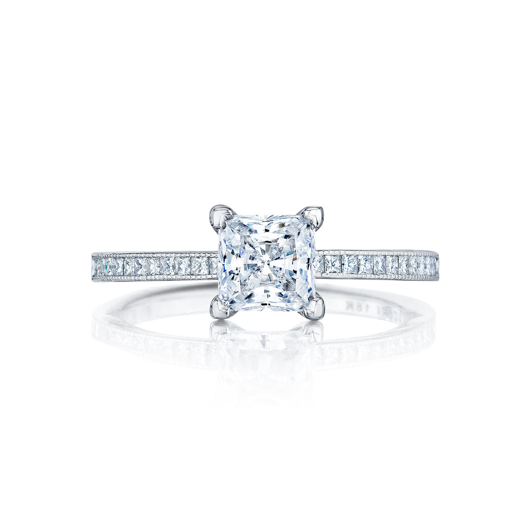Tacori Petite Crescent Princess Diamond Engagement Ring (0.23 CTW)
