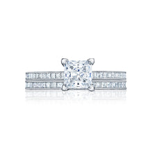 Load image into Gallery viewer, Tacori Petite Crescent Princess Diamond Engagement Ring (0.23 CTW)