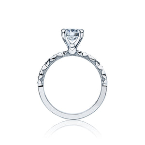 Tacori Sculpted Crescent Round Diamond Engagement Ring (0.15 CTW)